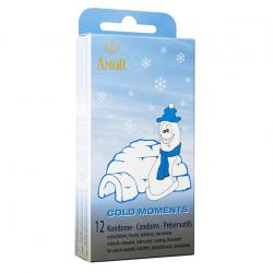 Презервативы с охлаждающим эффектом AMOR Cold Moments, 12 шт.