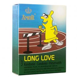 Презервативы с продлевающим эффектом.AMOR Long Love, 3 шт.