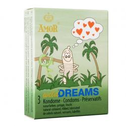 Ребристые презервативы AMOR wild Dreams, 3 шт.