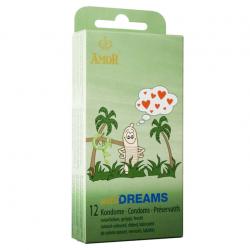 Ребристые презервативы AMOR wild Dreams, 12 шт.