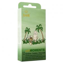 Одновременно и ребристые и пупырчатые презервативы AMOR wild Moments, 12 шт.