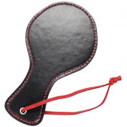 Похлопай меня нежно - Шлепалка с красным шнурком, цвет: черный