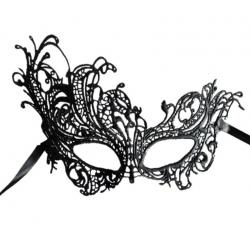 Загадочная незнакомка - Ажурная маска, цвет: черный