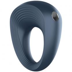 Сжимает и вибрирует - Эрекционное кольцо - Satisfyer Ring 2, цвет: черный