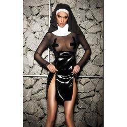Сладкий грех - Эротический костюм монашки, цвет: черный