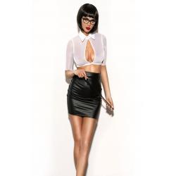Правильное образование - Эротический костюм учительнцы, цвет: черно-белый
