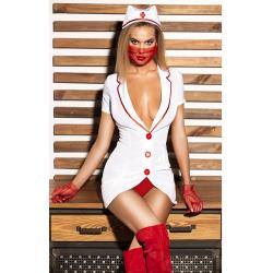 Игры в доктора - Эротический костюм медсестры, цвет: белый