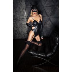Котенок с характером - Эротический костюм кошечки, цвет: черный