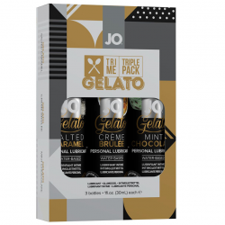 Ласки для сладкоежек - Подарочный набор - System JO Limited Edition Tri-Me  - Gelato (3 х 30мл)