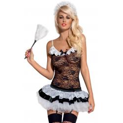 Housemaid костюм горничной Obsessive, S/M,L/XL