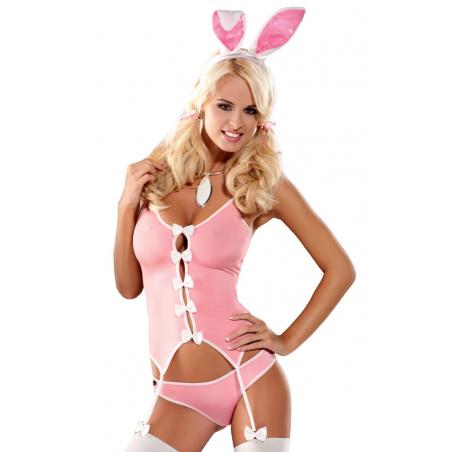 Bunny pink костюм кролика Obsessive, S/M, L/XL