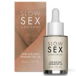 Мерцающее сухое масло-шиммер  для тела и волос  Slow Sex by Bijoux Indiscrets (Испания)