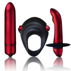 Вибронабор Rocks Off Truly Yours - Red Temptations, цвет: черно-красный