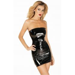 """Платье лакированное """"Соблазнительница Марго"""", цвет: черный"""