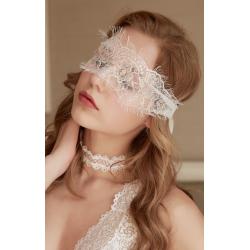 Кружевная маска, цвет: белый