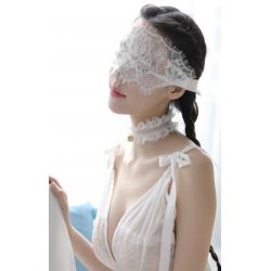 Кружевная маска без шнурков, цвет: белый