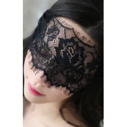 Кружевная повязка на глаза, цвет:черный