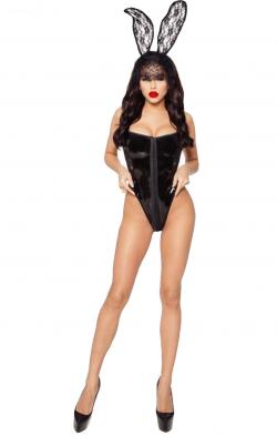 """Эротический костюм зайки """"Игривая Салли"""", цвет: черный"""