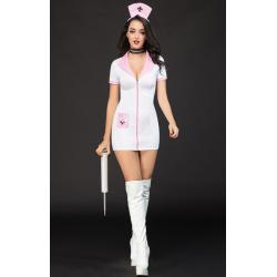 Эротический костюм медсестры Сексуальная Николетта S/M