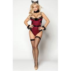 Эротический костюм кошечки сладкая Виолетта S/M