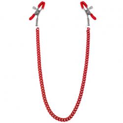 Зажимы для сосков с цепочкой Feral Feelings - Nipple clamps Classic, цвет: красный