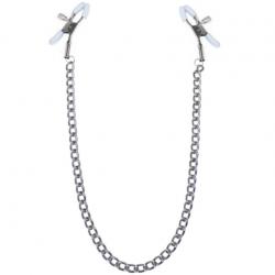 Зажимы для сосков с цепочкой Feral Feelings - Nipple clamps Classic, цвет: серебро