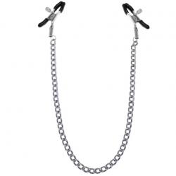 Зажимы для сосков с цепочкой Feral Feelings - Nipple clamps Classic, цвет: серебристый