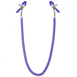 Зажимы для сосков с цепочкой Feral Feelings - Nipple clamps Classic, цвет: фиолетовый