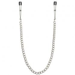 Тонкие зажимы для сосков с цепочкой Feral Feelings - Chain Thin nipple clamps, цвет: серебристый