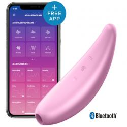 Вакуумный клиторальный стимулятор Satisfyer Curvy 3+, цвет: розовый