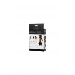Платье Glossy из материала Wetlook с заклепками, цвет: черный