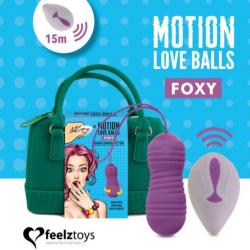 Вагинальные шарики с жемчужным массажем FeelzToys Motion Love Balls Foxy