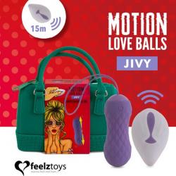 Вагинальные шарики с массажем и вибрацией FeelzToys Motion Love Balls Jivy