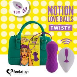 Вагинальные шарики с массажем и вибрацией FeelzToys Motion Love Balls Twisty