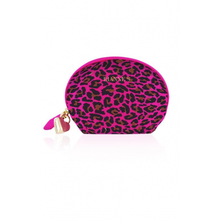 Мини вибромассажер Rianne S: Lovely Leopard Purple, цвет: фиолетовый
