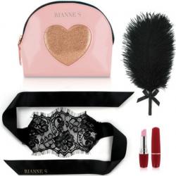 Романтический набор аксессуаров Rianne S: Kit d'Amour  Black, цвет: черно-розовый