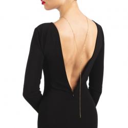 Колье на спину Bijoux Pour Toi - Julie Gold, цвет: золотистый