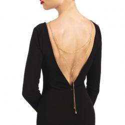 Колье на спину Bijoux Pour Toi - Lise Gold, цвет: золотистый