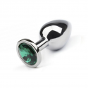 Анальная пробка,Silver Emerald